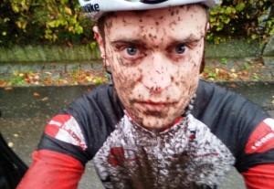 Matthias nach dem Crossrennen in Nürnberg