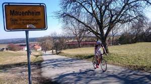 Matthias am Anstieg in Mauenheim