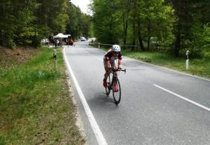 Matthias beim Einzelzeitfahren in Weiden