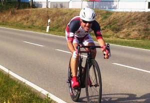 Stefan beim Einzelzeitfahren in Albstadt