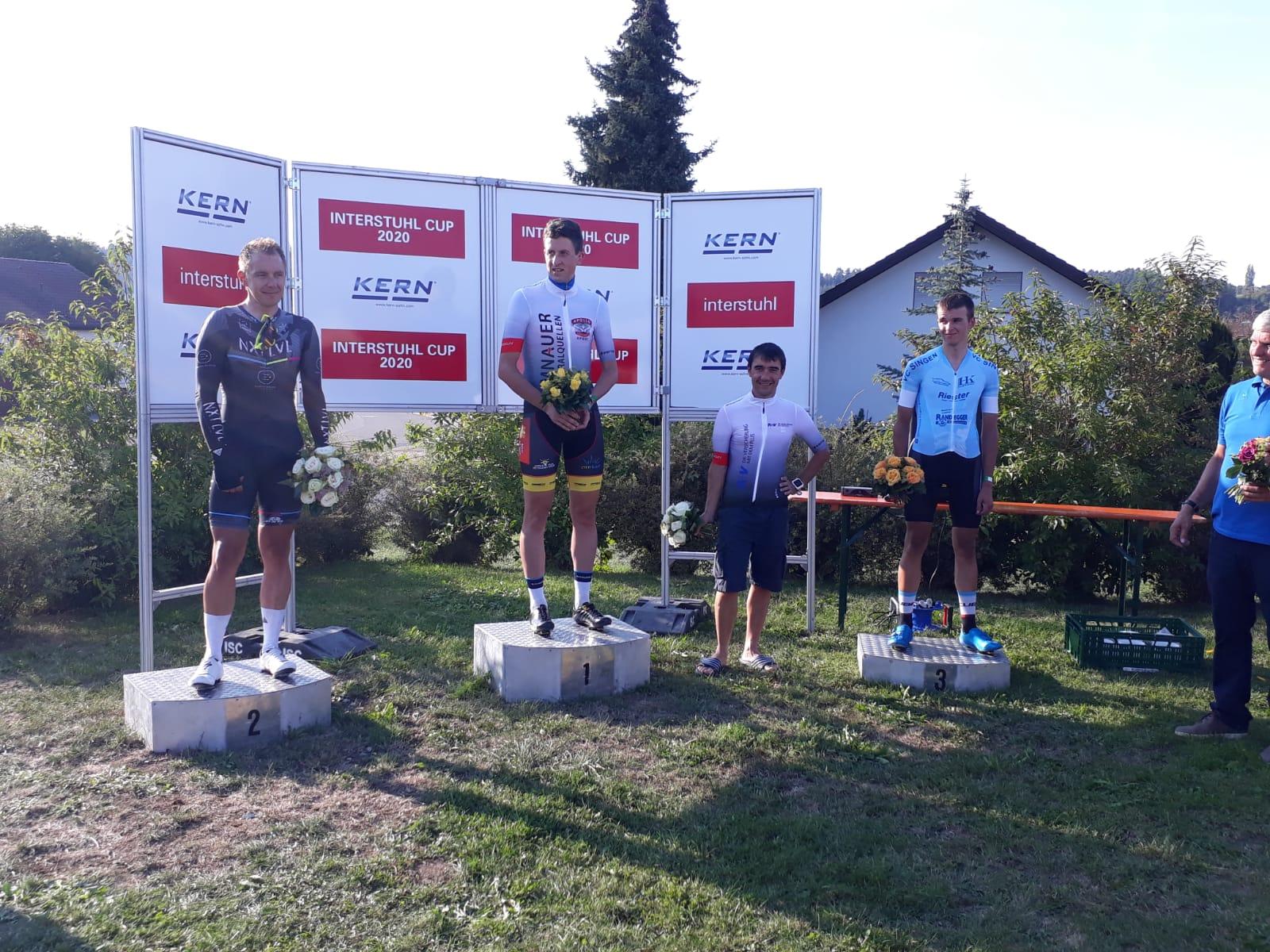 Stefan gewinnt das Sprinttrikot beim Interstuhl Cup in Geislingen bei Balingen